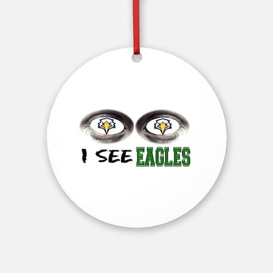 i see eagles Ornament (Round)