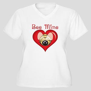 Valentine Bee Mine Women's Plus Size V-Neck T-Shir