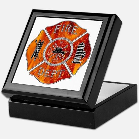 Fire Department Keepsake Box