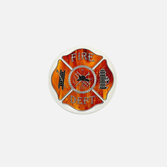 Fire Dept Mini Button