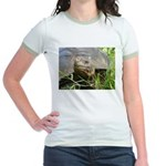 Galapagos Islands Turtle Jr. Ringer T-Shirt