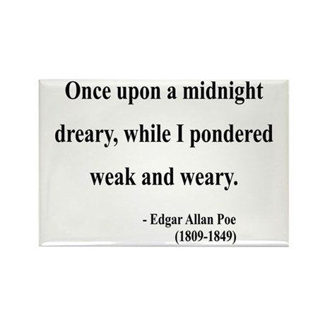 Edgar Allan Poe 14 Rectangle Magnet (100 pack)
