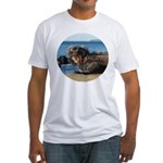 Galapagos Islands Iguana Fitted T-Shirt