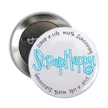 "ScrapHappy - 2.25"" Button (10 pack)"