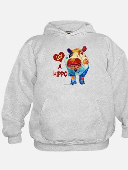Love A Hippo Hoodie