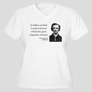 Edgar Allan Poe 15 Women's Plus Size V-Neck T-Shir