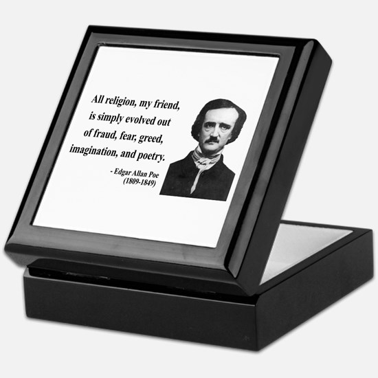 Edgar Allan Poe 15 Keepsake Box