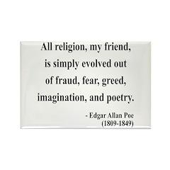 Edgar Allan Poe 15 Rectangle Magnet (10 pack)