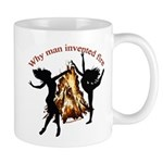 why man invented fire Mug