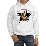 why man invented fire Hooded Sweatshirt