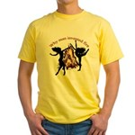 why man invented fire Yellow T-Shirt