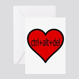 CTRL+ALT+DEL Heart Greeting Card