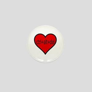 CTRL+ALT+DEL Heart Mini Button