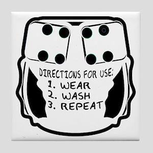 Wear, Wash, Repeat... Tile Coaster
