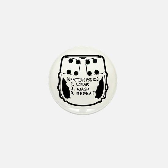Wear, Wash, Repeat... Mini Button