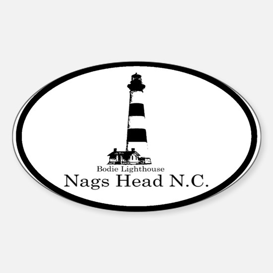 Bodie Lighthouse Oval Decal
