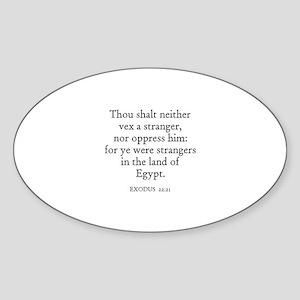 EXODUS 22:21 Oval Sticker