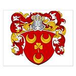 Van Der Bol Coat of Arms Small Poster