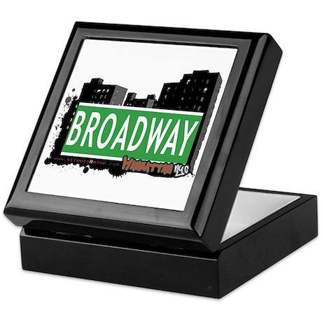 BROADWAY, MANHATTAN, NYC Keepsake Box