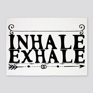inhale exhale 5'x7'Area Rug