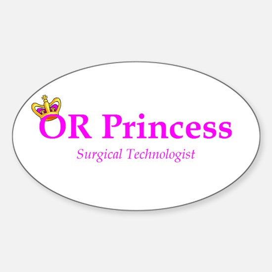 OR Princess ST Oval Decal