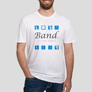 BAND runDMC logo Fitted T-Shirt