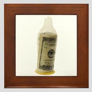 Sex for money Framed Tile
