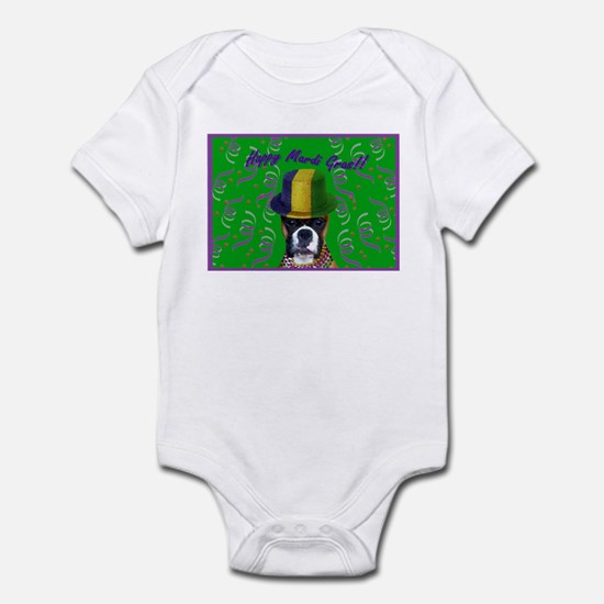 Mardi Gras Boxer Infant Bodysuit