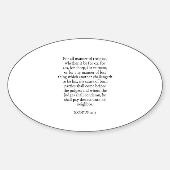 EXODUS 22:9 Oval Decal
