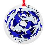 Minimal Sharks Deep School Ornament