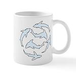 Minimal Shark Swimming School Mugs