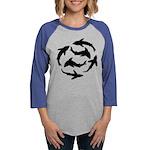Minimal Shark Swimming School Long Sleeve T-Shirt