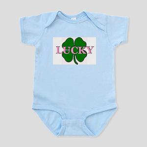 LUCKY 4 LEAF CLOVER  Infant Creeper