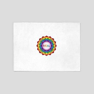REIKI. Reiki Healing Chakra Love! 5'x7'Area Rug