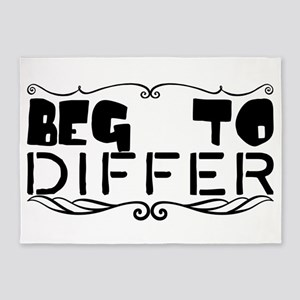 beg to differ 5'x7'Area Rug