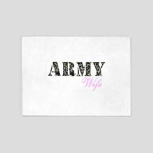 Army Wife Woodland 5'x7'Area Rug