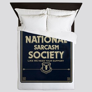 Sarcasm Society Queen Duvet