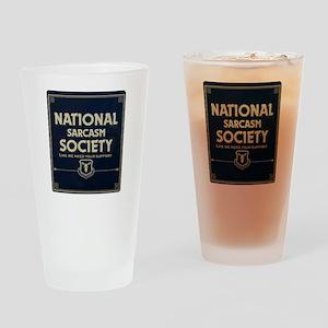 Sarcasm Society Drinking Glass