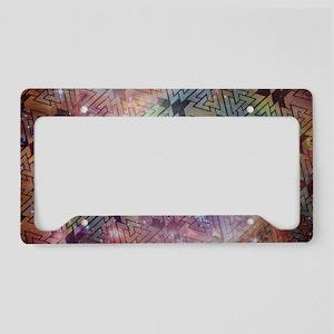 Valknut Galaxy Pattern License Plate Holder