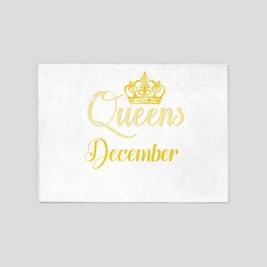 Queens are Born in December Women G 5'x7'Area Rug