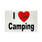I Love Camping Rectangle Magnet (10 pack)