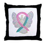 Breast & Ovarian Cancers Awareness Ribbon Throw Pi