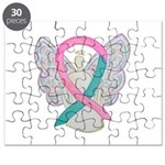 Breast & Ovarian Cancers Awareness Ribbon Puzzle
