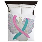 Breast & Ovarian Cancers Awareness Ribbon Queen Du
