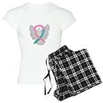 Breast & Ovarian Cancers Awareness Ribbon Pajamas