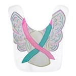 Breast & Ovarian Cancers Awareness Ribbon Polyeste