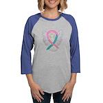 Breast & Ovarian Cancers Awareness Ribbon Long Sle