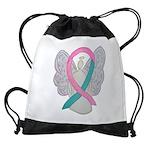 Breast & Ovarian Cancers Awareness Ribbon Drawstri