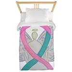 Breast & Ovarian Cancers Awareness Ribbon Twin Duv