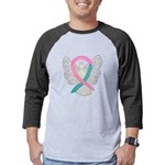 Breast & Ovarian Cancers Awareness Ribbon Mens Bas